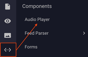 Ad Builder - Components - Audio Player Menu