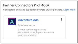 Adventive Data Studio Connector - Partner Connector